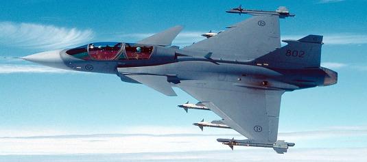 De Zweedse concurrent voor de JSF: de Saab Gripen